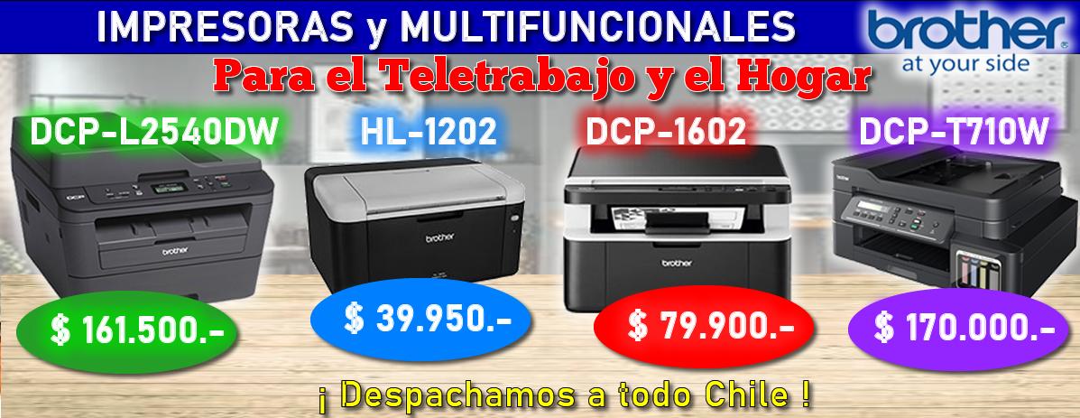 Impresoras y Multifuncionales DCP-L2540DW / HL-1202 / DCP-1602 / DCP-T710W